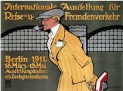 Vintage German poster - international exhibition of travel 1911